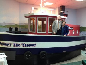 Frank and June Peishel with Franky the Tugboat