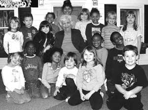 Selma with children