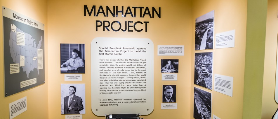 the research for the first atomic bomb in the united states the manhattan project The manhattan project was the name for the research and development program for the atomic bomb it started small, but as the bomb became more real, the united states added scientists and funding to be sure they were the first to have the bomb ironically, many of the scientists involved in making the bomb had defected.