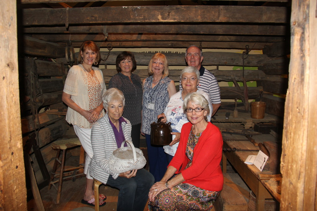 Gala volunteers: (L-R, seated) Pat Imperato and Cande Seay; (L-R) standing) Nancy Harrison, Lee McGetrick, Executive Director Mary Ann Damos, and Larry Burkholder